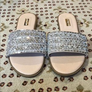 Sandals with crystal detailing